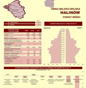 Statystyczne  Vademecum Gminy Halinów - 2012 strona 1