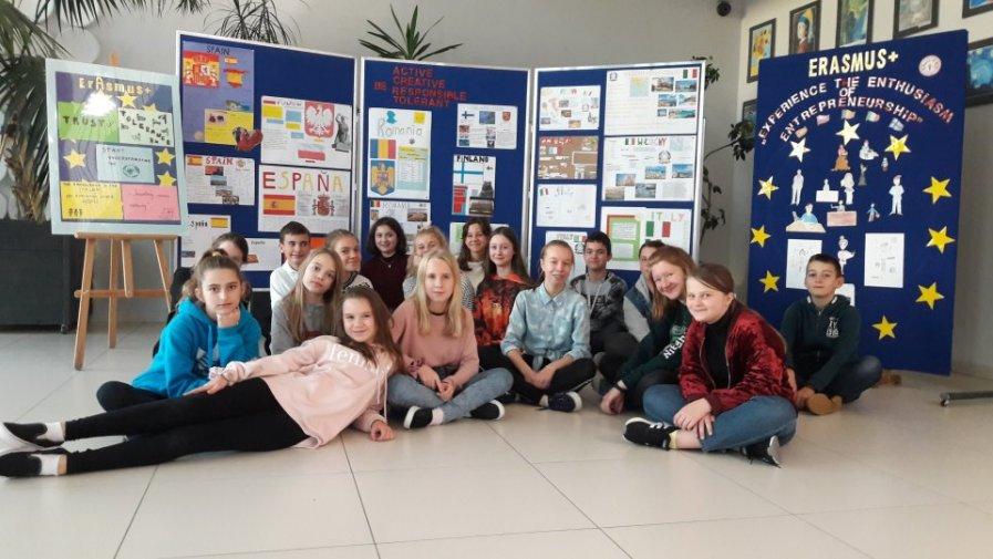 Erasmus + znów zagościł w Zespole Szkolno-Przedszkolnym  w Halinowie